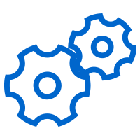 Gears turning icon